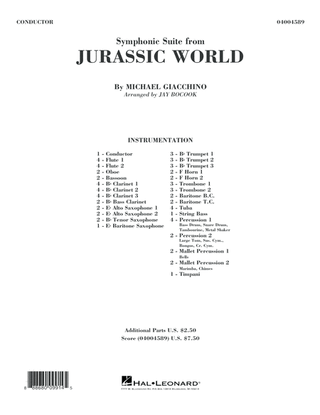 Jurassic World (Symphonic Suite) - Conductor Score (Full Score)