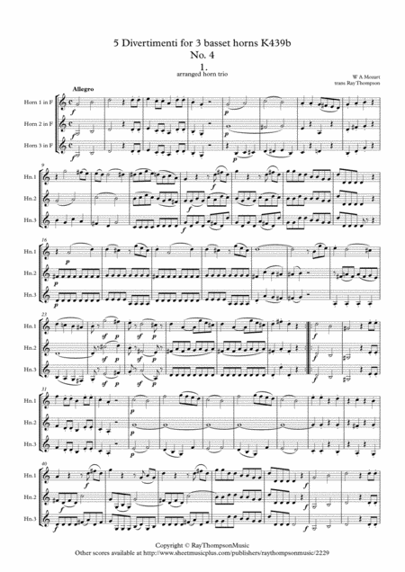 Mozart: Divertimento No.4 (Complete) from