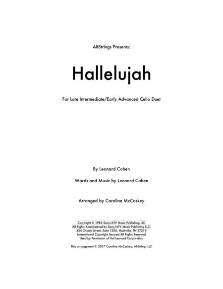 Hallelujah - Cello Duet