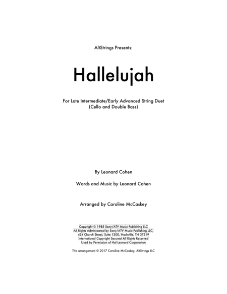 Hallelujah - Cello and Double Bass Duet