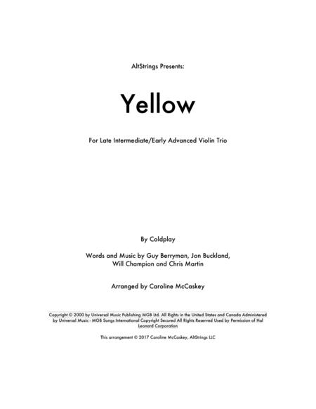 Yellow - Violin Trio