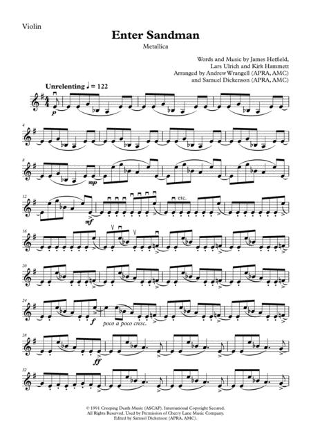 Enter Sandman (Violin Solo)