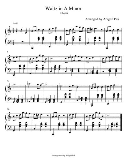 Waltz in A Minor Arrangement