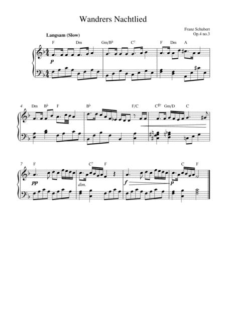 Wandrers Nachtlied (Op.4 no.3)