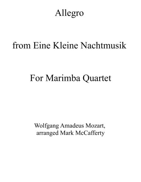 Allegro from Eine Kleine Nachtmusik for Marimba Quartet