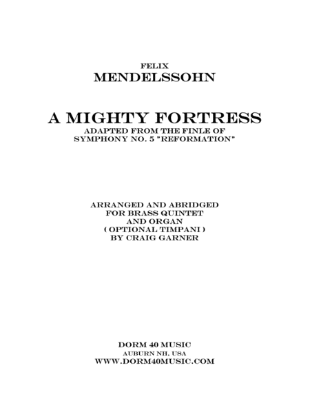 A Mighty Fortress (Adapted from the Finale of Symphony No. 5