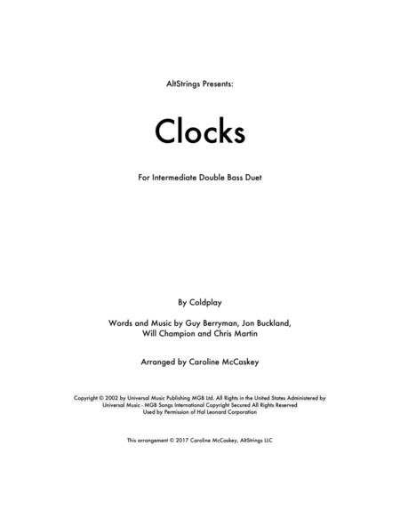 Clocks - Double Bass Duet