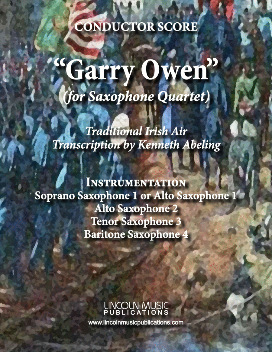 March - Garry Owen (for Saxophone Quartet SATB or AATB)