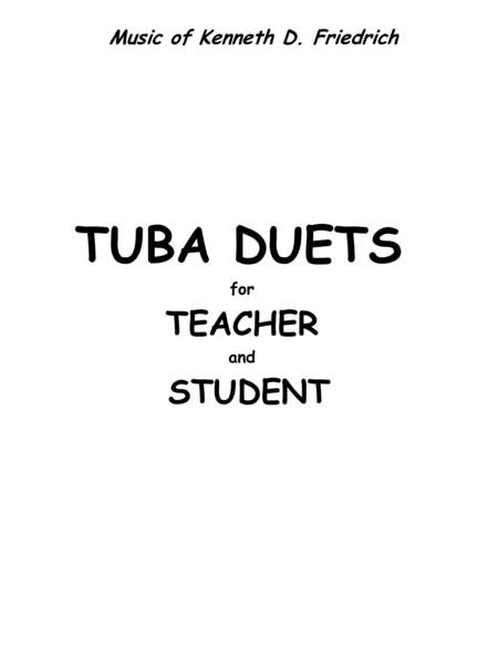 Tuba Duets for Teacher and Student