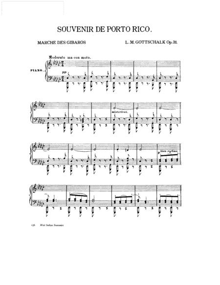 Gottschalk - Souvenir de Porto Rico Op.31