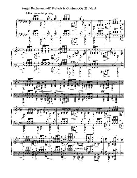 Rachmaninoff-Prelude in g minor, Op.23, No.5
