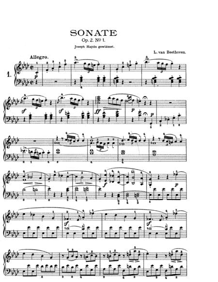 Beethoven-Piano Sonata in f minor, Op.2,No.1