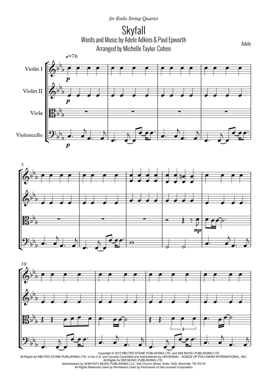Skyfall (String Quartet)