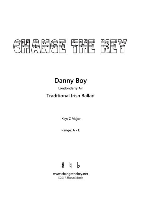 Danny Boy - C Major