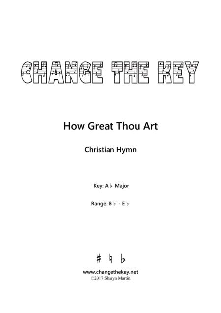 How Great Thou Art - Ab Major