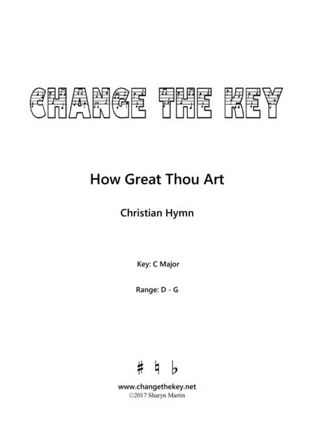 How Great Thou Art - C Major