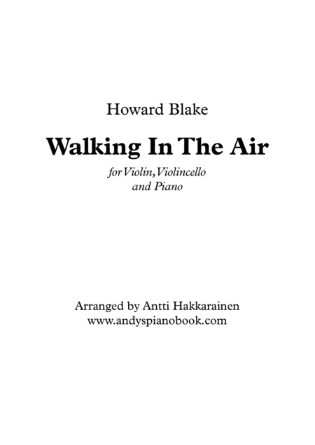 Walking In The Air (Piano Trio)