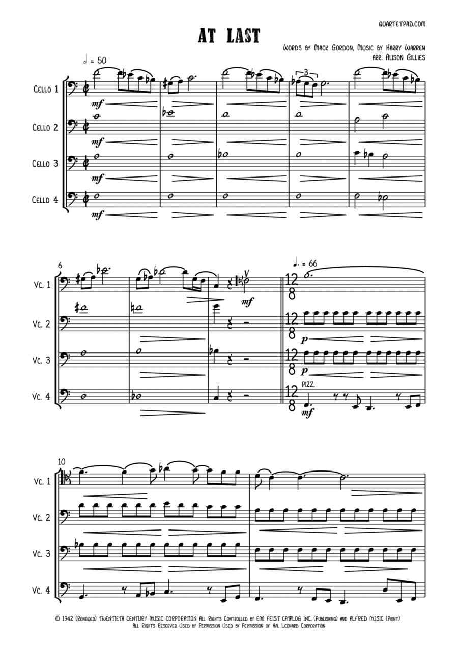 At Last - Cello Quartet