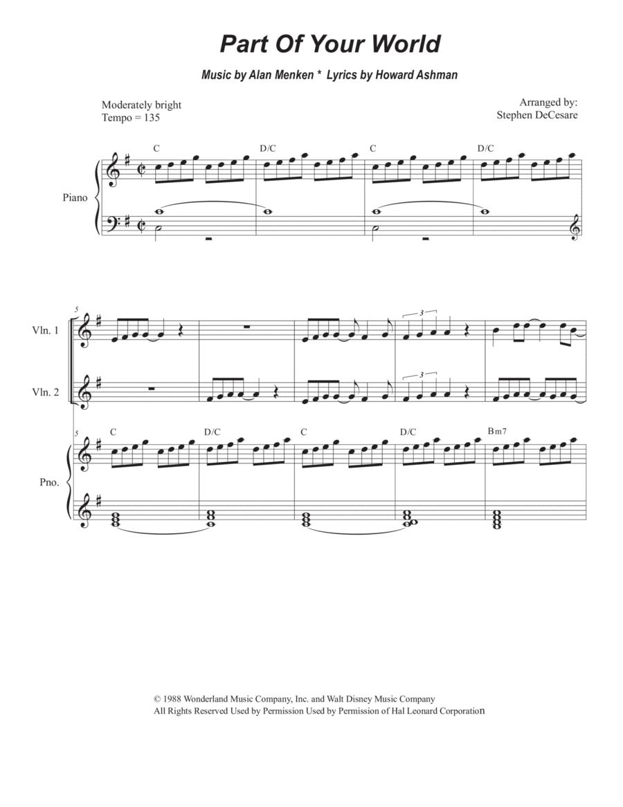Part Of Your World (for String Quartet)
