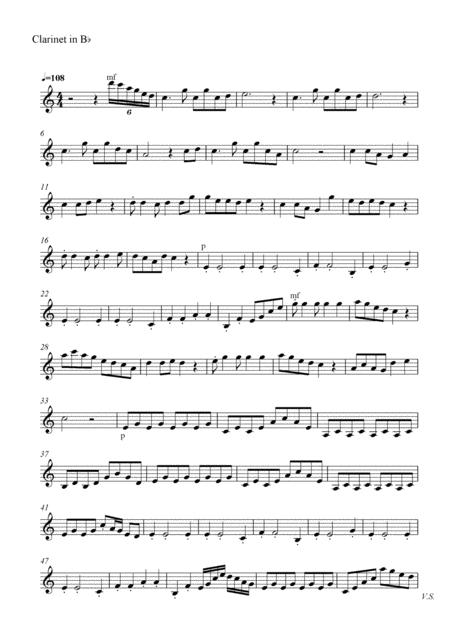 Moonlight in The Lotus Pool(Clarinet Part)