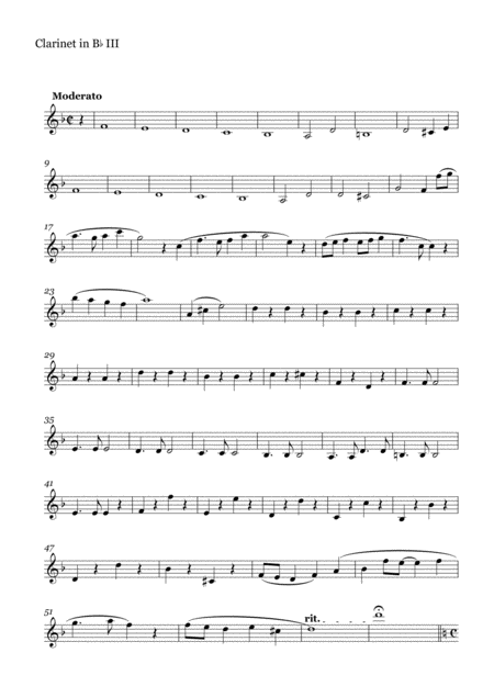Clarinet Quartet on Melodies by Joe Hisaishi(Clarinet Part III)