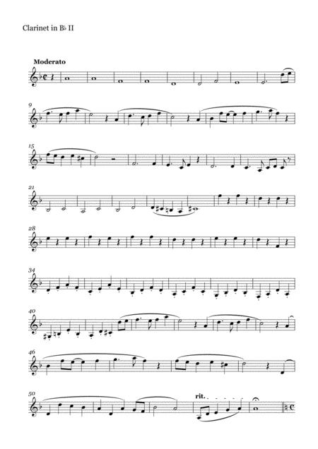 Clarinet Quartet on Melodies by Joe Hisaishi(Clarinet Part II)