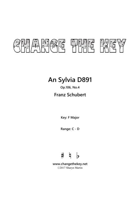 An Sylvia - F Major