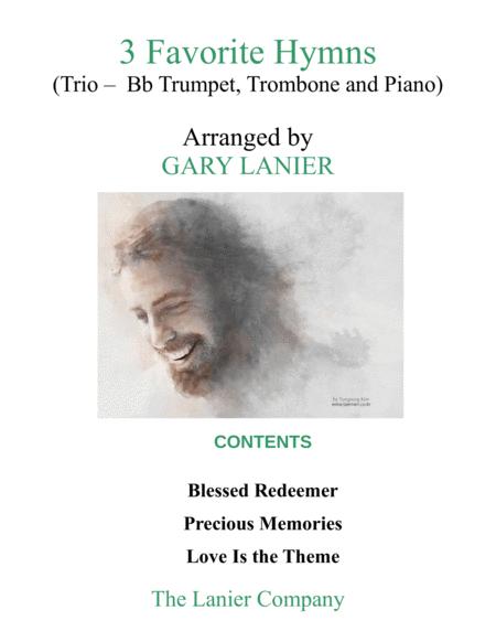 3 FAVORITE HYMNS (Trio - Bb Trumpet, Trombone & Piano with Score/Parts)