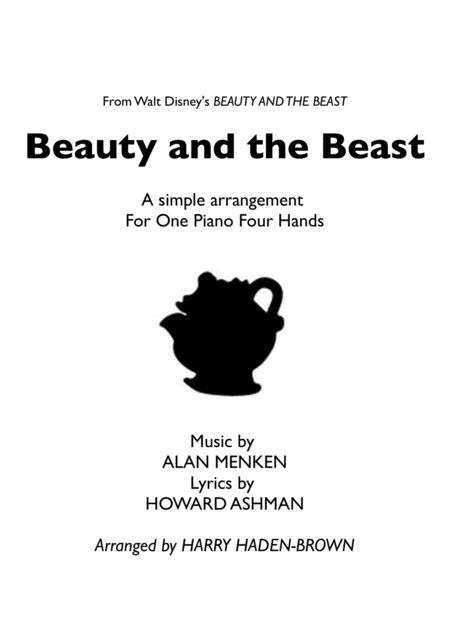 Beauty And The Beast - Tale as Old as Time - Simple Piano Duet