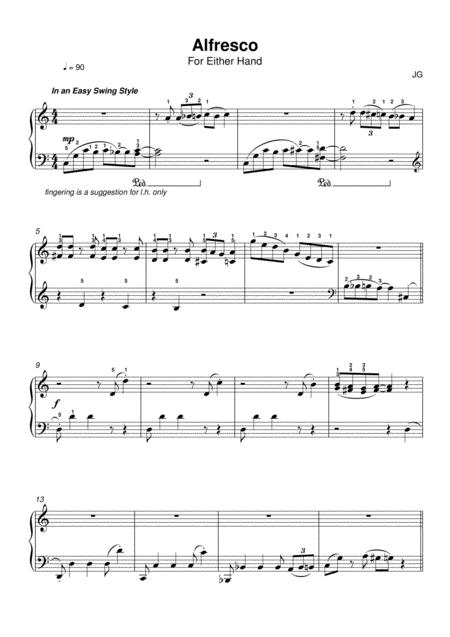 Alfresco for Left hand Piano