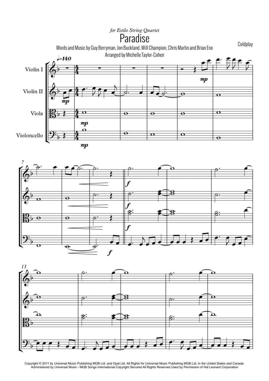 Paradise (String Quartet)
