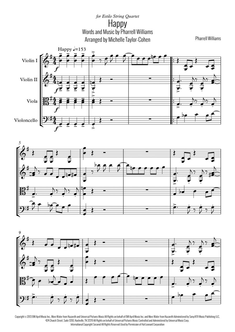 Happy (String Quartet)