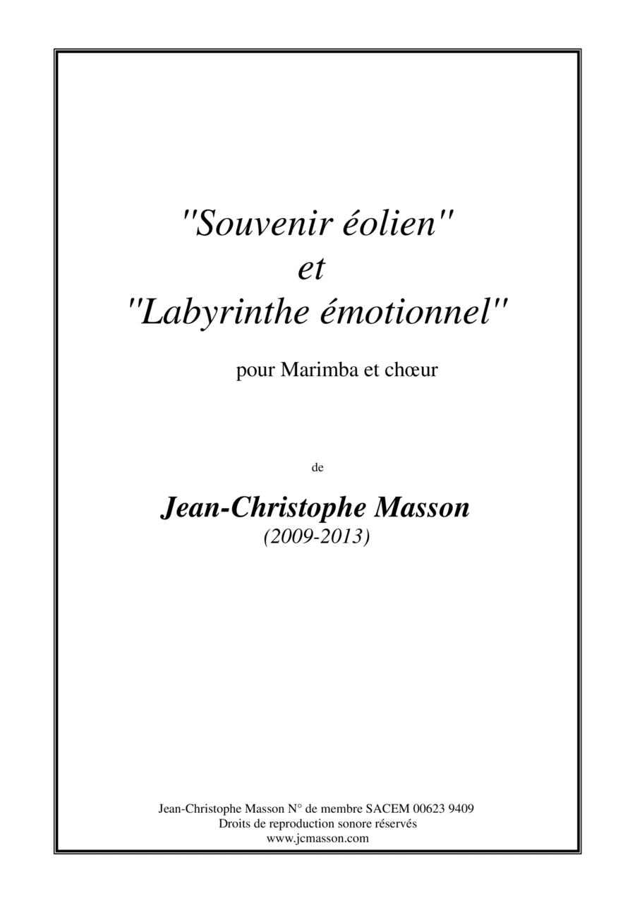 Souvenir éolien --- for Marimba and chorus --- Full score and parts --- JCM 2009-2013
