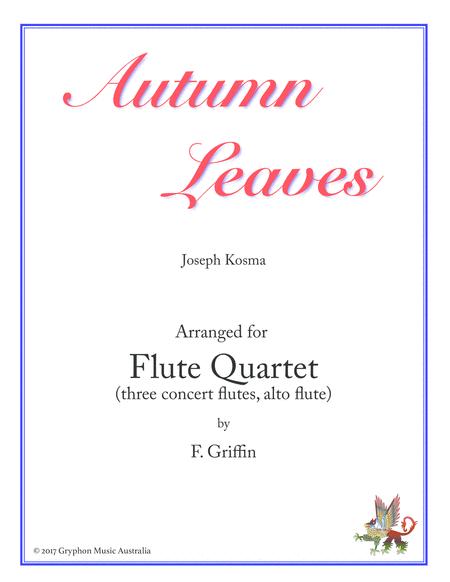 Autumn Leaves for Flute Quartet