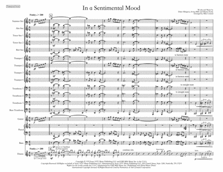 In A Sentimental Mood, arranged by Mike Conrad
