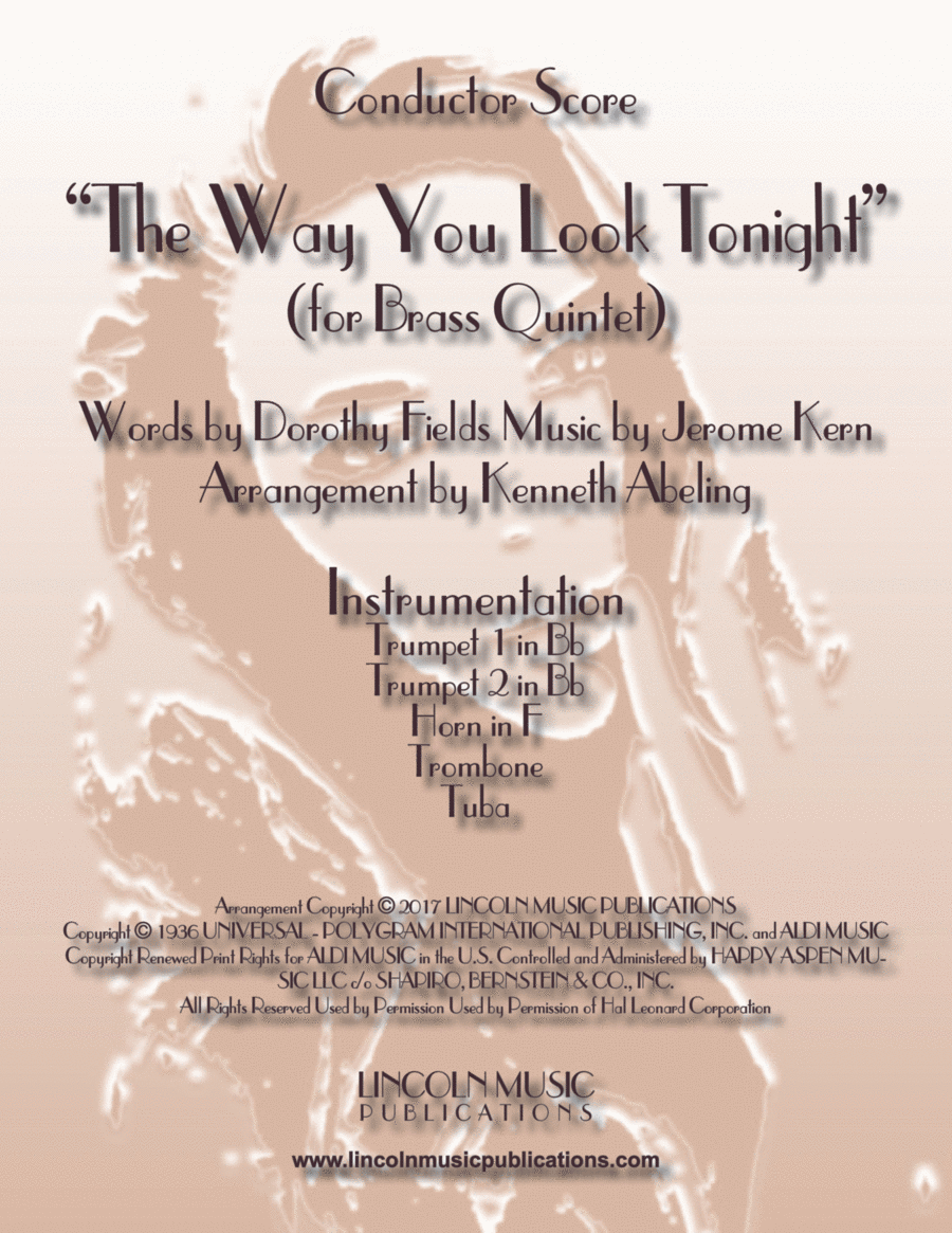 The Way You Look Tonight (for Brass Quintet)