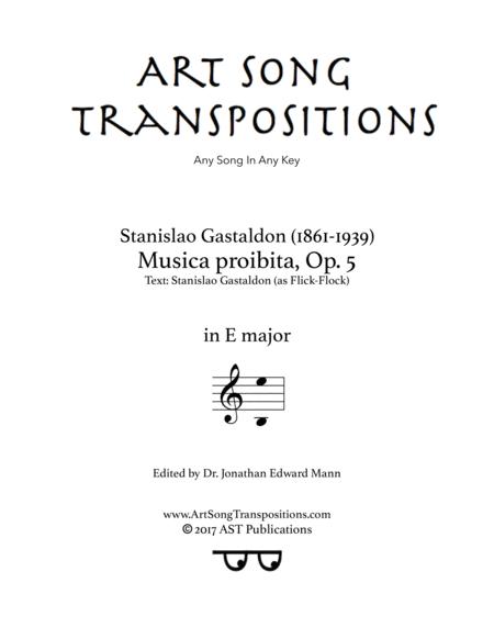 Musica proibita, Op. 5 (E major)