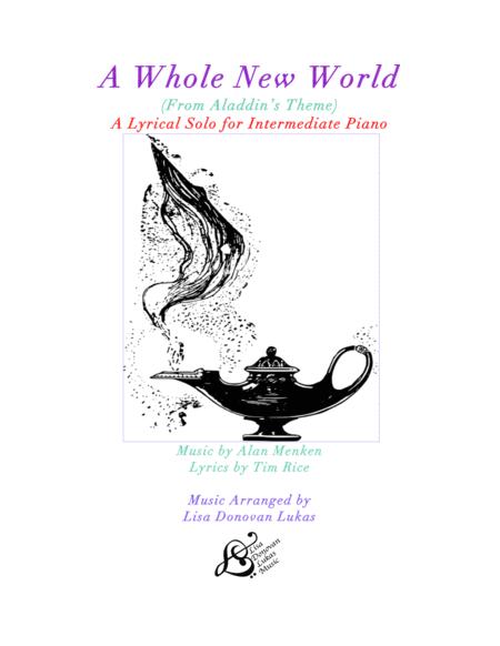A Whole New World (from 'Aladdin') for Intermediate Solo Piano