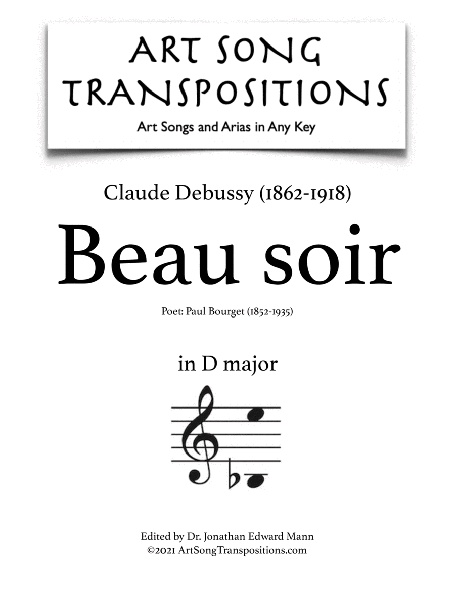 Beau soir (D major)