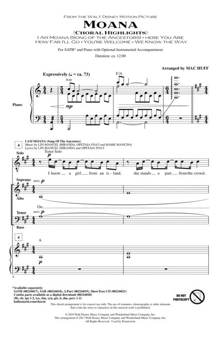 Moana (Choral Highlights)