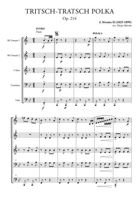 Tritsch-Tratsch Polka for Brass Quintet