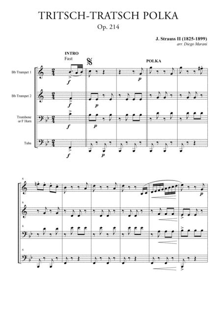 Tritsch-Tratsch Polka for Brass Quartet