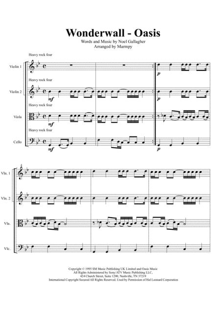 Wonderwall - Oasis (arranged for String Quartet)