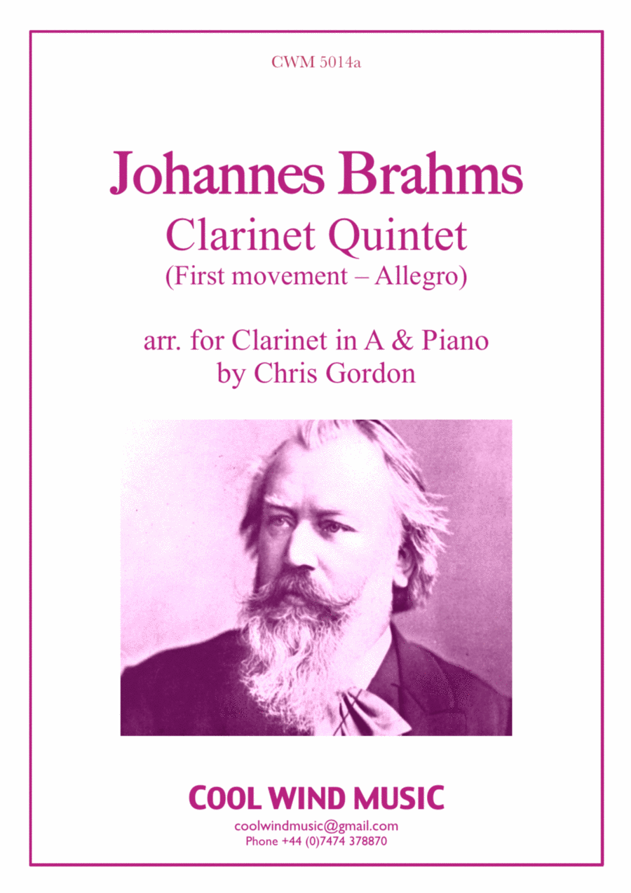 Brahms Clarinet Quintet Op. 115 (arr. for Clarinet in A and Piano) - Allegro