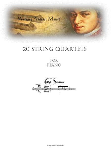 Mozart - 20 String Quartets - Piano Version