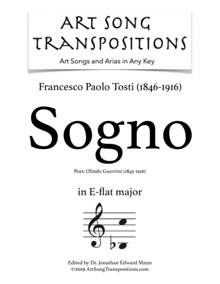 Sogno (E-flat major)