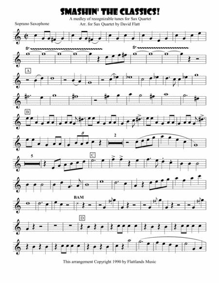 Smashin' the Classics for SATB Sax Quartet