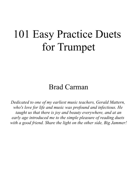 101 Easy Practice Duets for Trumpet