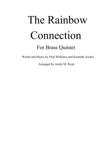 The Rainbow Connection - Brass Quintet