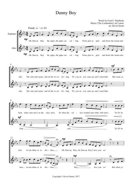 Danny Boy (Duet for Soprano and Alto Singers)